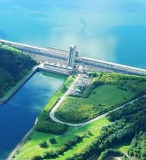 Les Lacs de l'Eau d'Heure Stuwdam en Skywalk