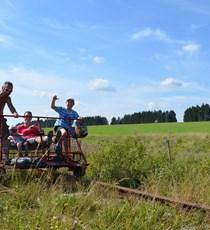 Railbike im Hohen Venn